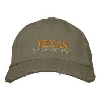 テキサス州単独星の州の帽子 刺繍入りキャップ