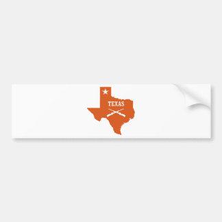 テキサス州単独星回りが悪い銃米国のカスタムインク バンパーステッカー