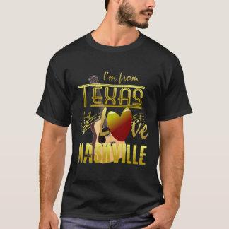 テキサス州愛ナッシュビルの男性Tシャツ Tシャツ