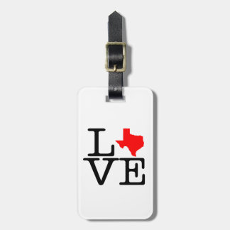 テキサス州愛荷物のラベル ラゲッジタグ