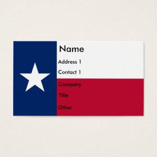 テキサス州米国の旗が付いている名刺 名刺