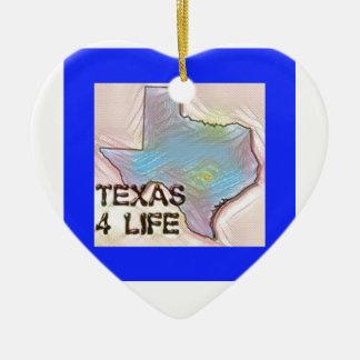 """""""テキサス州4生命""""の州の地図のプライドのデザイン セラミックオーナメント"""