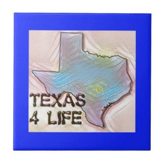 """""""テキサス州4生命""""の州の地図のプライドのデザイン タイル"""