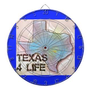 """""""テキサス州4生命""""の州の地図のプライドのデザイン ダーツボード"""