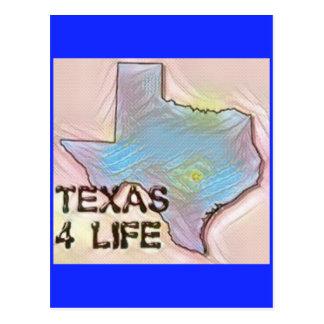 """""""テキサス州4生命""""の州の地図のプライドのデザイン ポストカード"""