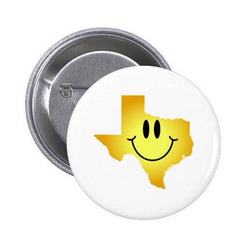 テキサス州|スマイリー|顔 缶バッジ