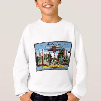 テキサス州。テキサス州からのプロダクト挨拶 スウェットシャツ