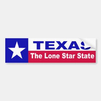 テキサス州、単独星の州 バンパーステッカー