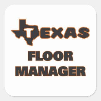 テキサス州|床|マネージャー 正方形シール