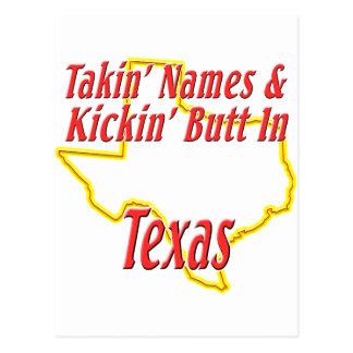テキサス州- Kickinのお尻 ポストカード