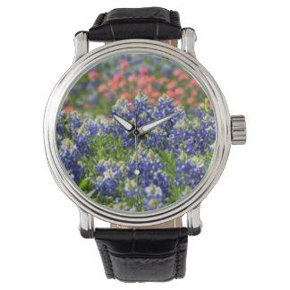 テキサス州Bluebonnetsの腕時計 腕時計