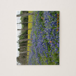 テキサス州Bluebonnetsは芸術の写真撮影を缶詰にします ジグソーパズル