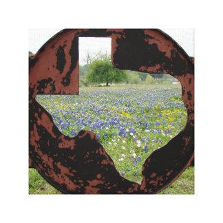 テキサス州Bluebonnets キャンバスプリント