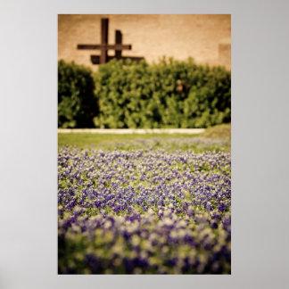 テキサス州Bluebonnets ポスター