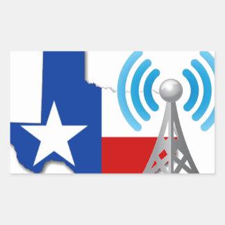 テキサス州GMRSネットワーク 長方形シール