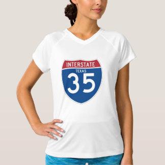テキサス州TX I-35の州間幹線道路の盾- Tシャツ