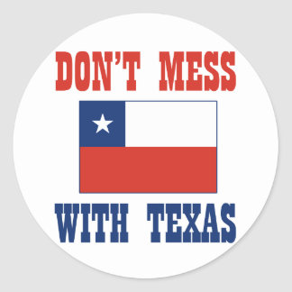 テキサス州w/Chileanの旗を台なしにしないで下さい ラウンドシール