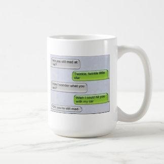 テキストメッセージのコップ ベーシックホワイトマグカップ