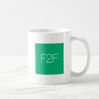 テキストメッセージF2Fのコーヒー・マグ ベーシックホワイトマグカップ