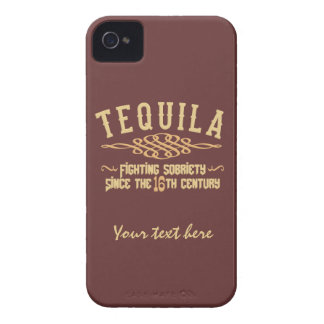テキーラのカスタムなブラックベリーのはっきりしたな箱 Case-Mate iPhone 4 ケース