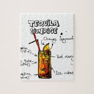 テキーラの日の出のカクテルのレシピ ジグソーパズル