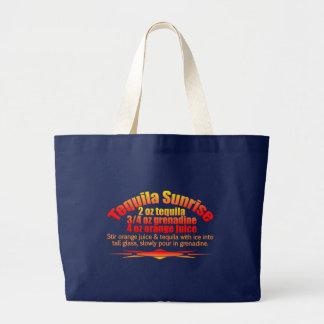 テキーラの日の出のバッグ-スタイル及び色を選んで下さい ラージトートバッグ