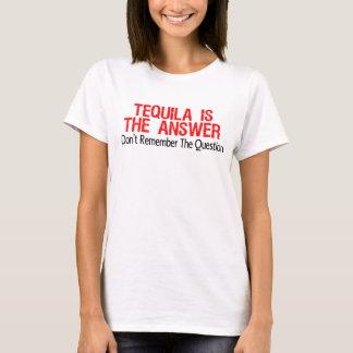 テキーラは答えです Tシャツ
