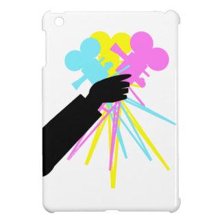 テクニカラー愛花束のヴィンテージの映画用カメラ iPad MINIカバー