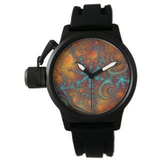 テクノのサイケデリックなフラクタル 腕時計