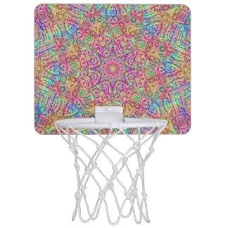 テクノ色パターン小型バスケットボールのゴール ミニバスケットボールゴール