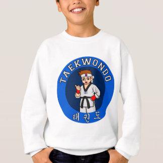 テコンドーの人のバッジ スウェットシャツ