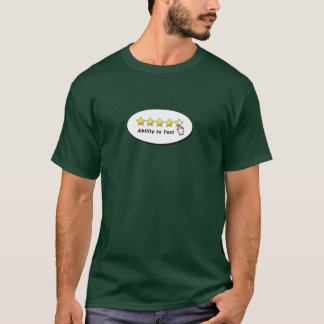 テストする能力 Tシャツ