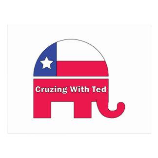テッドの2016年のサポートテッドCruzとのCruzing ポストカード