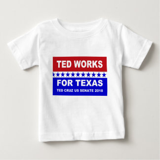テッドはテキサス州の赤く白くおよび青の設計のために働きます ベビーTシャツ