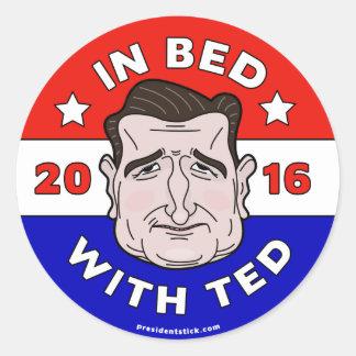 テッド2016年が付いているベッドのテッドCruzのステッカー、 ラウンドシール