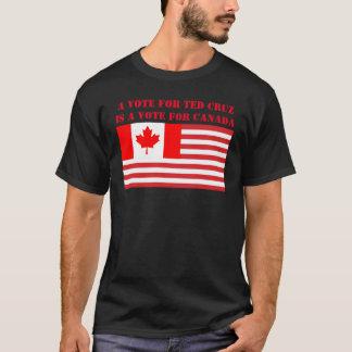 テッドCruzのための投票はカナダのための投票です Tシャツ