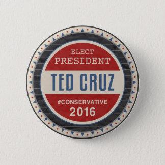 テッドCruz 2016年 5.7cm 丸型バッジ