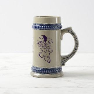 テディのこっけい者の紫色インク ビールジョッキ