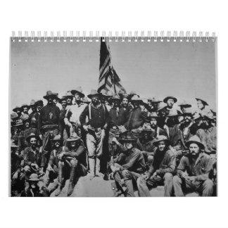 テディの子馬のTeddy Rooseveltの荒いライダー1898年 カレンダー