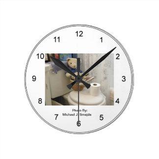 テディの浴室の時計 ラウンド壁時計