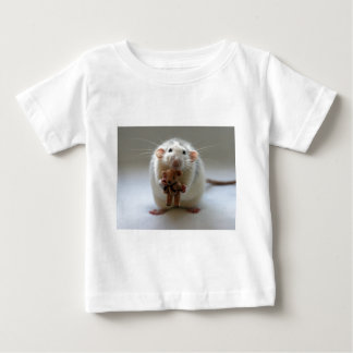 テディを握っているかわいいラット ベビーTシャツ