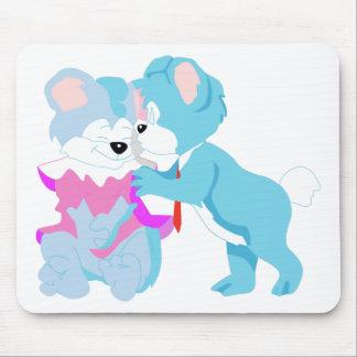 テディー・ベアのカップル マウスパッド