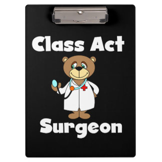 テディー・ベアのクラスの行為の外科医のクリップボード クリップボード