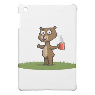 テディー・ベアのコーヒー iPad MINI カバー