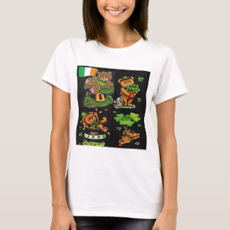 テディー・ベアのセントパトリックの日のコレクション Tシャツ