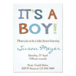 テディー・ベアのハートの赤い青色児の招待状 カード