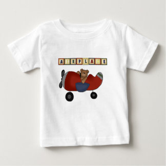 テディー・ベアのパイロットのTシャツおよびギフト ベビーTシャツ