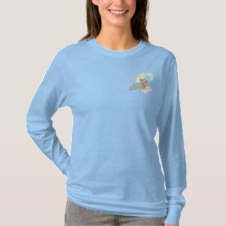 テディー・ベアのモノグラムのイニシャルC 刺繍入り長袖Tシャツ