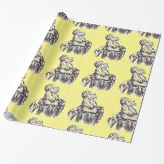 テディー・ベアのユニセックスなベビーシャワーの包装紙 ラッピングペーパー