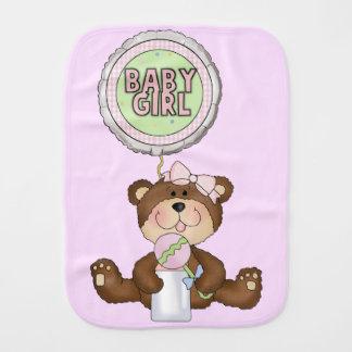 テディー・ベアの女の子のピンク バープクロス
